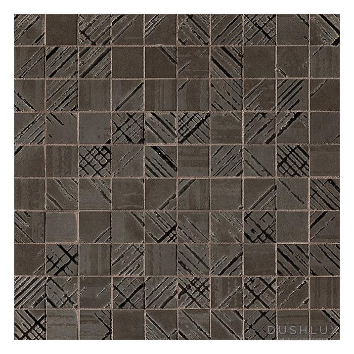 Fap Bloom Керамическая плитка 30,5x30,5см., для ванной, настенная, мозаика, цвет: металл золото/brown