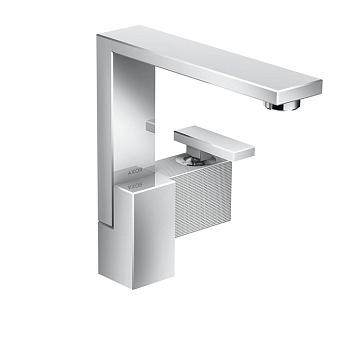 Axor Edge Смеситель для раковины, на 1 отв., с донным клапаном push/open, излив 175мм, алмазная огранка, цвет: хром