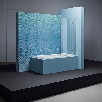Bette Ocean Ванна встраиваемая 170х70x45 см, с шумоизоляцией, перелив сзади, BetteGlasur® Plus, цвет: белый