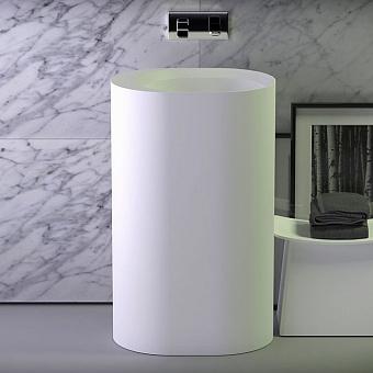 KNIEF Glow Раковина приставная   55х40х90 см  без перелива, вывод в стену,цвет белый матовый