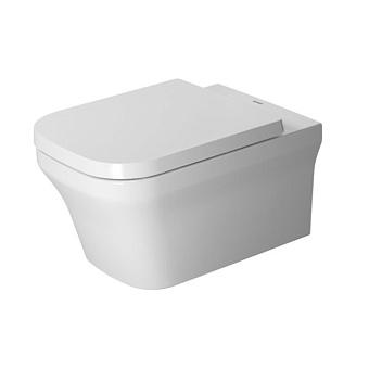 Duravit P3 Comforts Rimless, Унитаз подвесной без смывного края, с вертикальным смывом, вкл. крепление Durafix, 4,5л., 380x570мм, Цвет: Белый