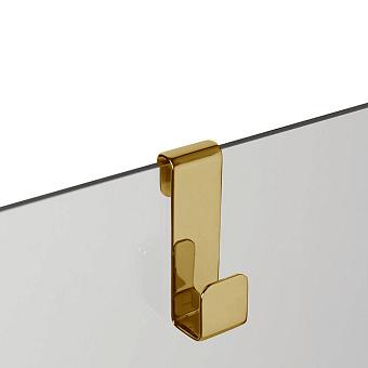 3SC APPY Крючок навесной на стекло, одинарный, цвет: золото 24к. Lucido