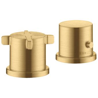 Axor Citterio E Смеситель для ванны, термостатический, на 2 отв., цвет: шлифованное золото