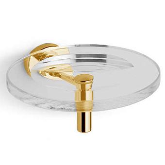Bertocci Cinquecento Мыльница подвесная, цвет: прозрачное стекло/золото