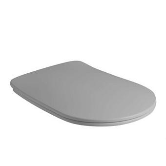 Kerasan Nolita Сиденье для унитаза SLIM быстросъемное, микролифт, петли хром, цвет: серый матовый