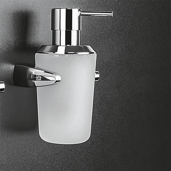 Colombo Road Дозатор для жидкого мыла настенный L0.25, цвет: хром/стекло