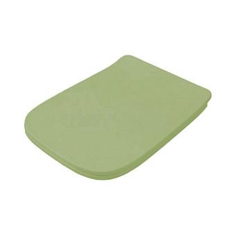 Artceram A16 Сиденье для унитаза с микролифтом, цвет: Green salvia/хром