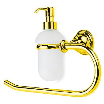 StilHaus Elite Полотенцедержатель + дозатор стеклянный, цвет: золото