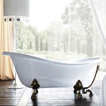 Gruppo Treesse Epoca Ванна отдельностоящая (170х80хh72/60 см) в комплекте: ножки (4 шт.), слив-перелив, цвет ванны: белый, фурнитура: бронза