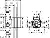 Axor ShowerCollection Скрытая часть для термостата 12x12 см, ¾'