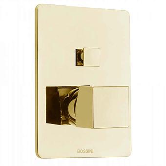 Bossini Cube Смеситель для душа, встраиваемый, 2 выхода , цвет: золото