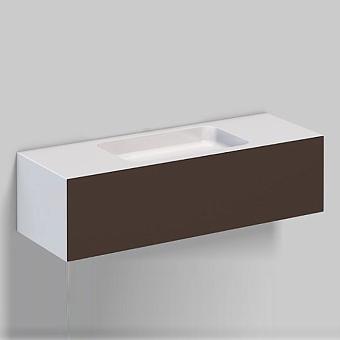 Alape WP Тумба с раковиной, 125.4х50х h35см, без отв., подвесная, цвет: белый/shadow earth