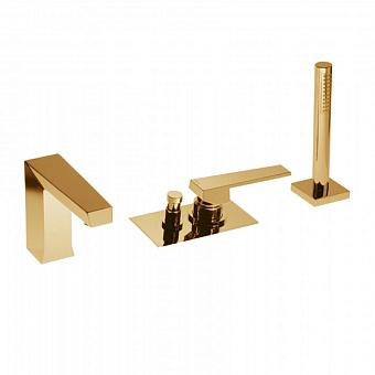 Bongio Stelth, Смеситель для ванны, цвет: золото