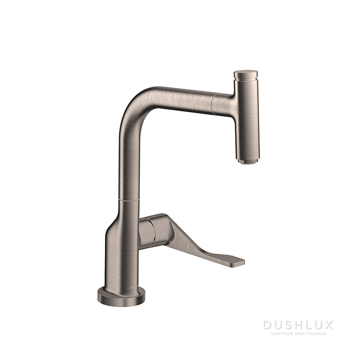 Axor Citterio Смеситель для кухни, однорычажный, на 1 отв, с выдвижным душем, излив: 219мм, цвет: под сталь