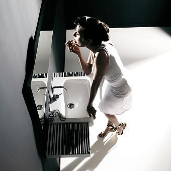 KERASAN Inka Project Раковина 60х40 см, 1 отв., накладная, цвет: белый глянцевый