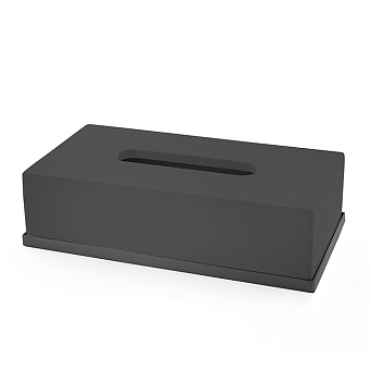 3SC Mood Deluxe Контейнер для бумажных салфеток, 24,5х13хh7 см, настольный, цвет: чёрный матовый/черный матовый