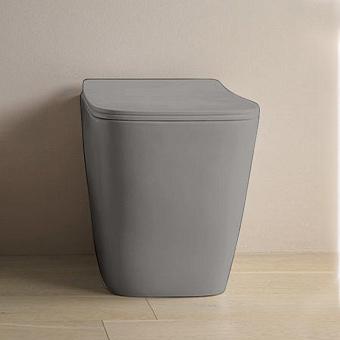 Artceram A16 Унитаз напольный, 52,5х36см, безободковый, слив универсальный, с крепежом, цвет: grigio oliva