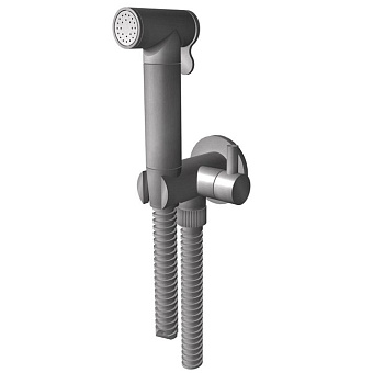 Bongio Time 2020 Гигиенический душ с запорным вентилем, цвет: нержавеющая сталь
