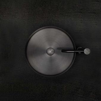 Gessi 316 Раковина 40 см, без отв., для установки на столешницу, без перелива, нержавеющая сталь, цвет: Black metal brushed PVD