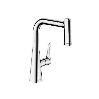 Hansgrohe Kitchen M7116-H220 Кухонный смеситель, однорычажный, с вытяжным душем, хром