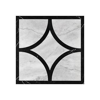 Devon&Devon Prestige Плитка из натурального камня 60x60см, универсальная, мрамор, prestige 3, цвет: white carrara/black marquinha