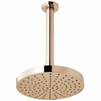 Webert Azeta Верхний душ с кронштейном, стальной, 200 мм, цвет золото