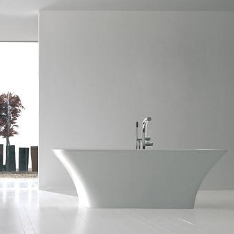 Victoria + Albert Ravello, Ванна 174.3х75.3х59,7 см, с встроенной базой без перелива, Цвет: белый