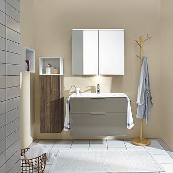 Burgbad Eqio Комплект мебели с раковиной 1230 мм, цвет: серый глянец