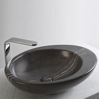 Cielo Le Giare Раковина накладная 60×45×14.5h см, мраморная, цвет: Grey Stone