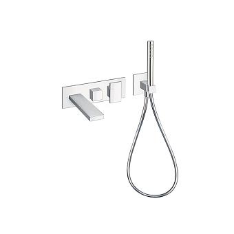 Cristina Tabula Смеситель для ванны/душа с переключателем на 2 выхода, встраиваемый, цвет: хром