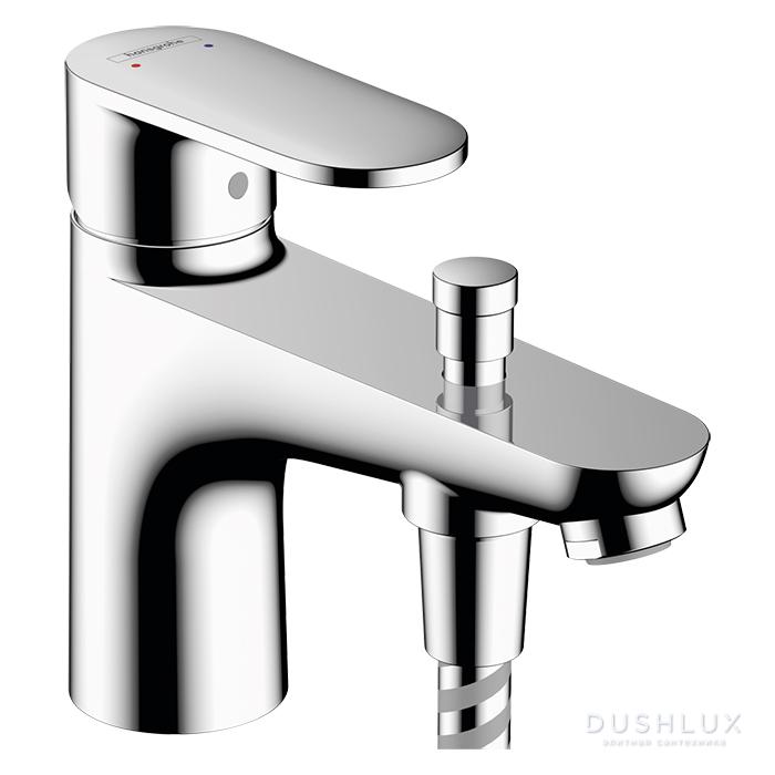 Hansgrohe Vernis Blend Смеситель для ванны и душа Monotrou, на 1 отв, излив 140мм, 2 уровня расхода воды, цвет: хром