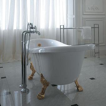 Globo Paestum Ванна 170x80 см белая, золотые ножки