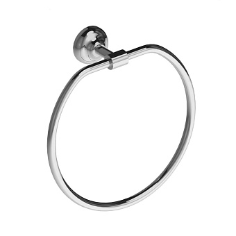 Stella Roma Полотенцедержатель кольцо настенный, цвет: хром