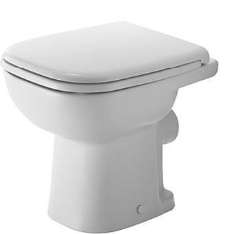 Duravit D-Code Унитаз напольный 48х35см,  для независимого подключения воды,  включая крепление, слив в стену, цвет белый