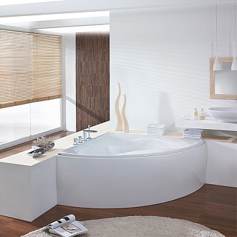 Hoesch Squadra Ванна угловая 152х152х63см, с несъемной панелью, цвет: белый