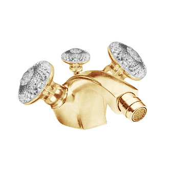 Cristal et Bronze Millesime Dome Смесители для биде, цвет золото 24 к.