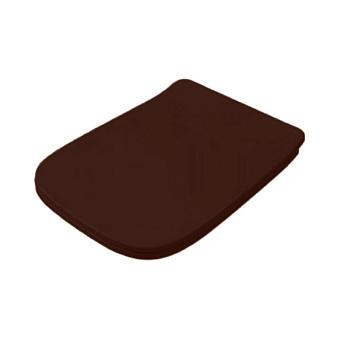 Artceram A16 Сиденье для унитаза с микролифтом, цвет: marrone cocoa/хром