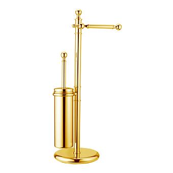 CISAL Arcana Напольная стойка с ершиком и держателем т/б, цвет золото