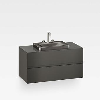 Armani Roca Baia Тумба подвесная с раковиной, 100х59х61см с 2 ящиками, со столешницей, цвет: черный