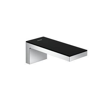 Axor MyEdition Излив для ванны, настенный 200мм, цвет: хром/черное стекло