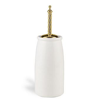 StilHaus Giunone Напольный керамический ерш, цвет: золото/керамика