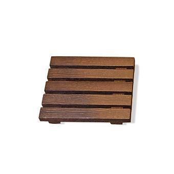 Decor Walther Wood STS Мыльница настольная, цвет: темный ясень