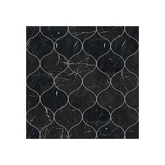 Devon&Devon Elite Плитка из натурального камня 30.5x26.6см, универсальная, мрамор, elite 16, цвет: black marquinha