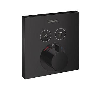 Hansgrohe ShowerSelect Термостат для душа, 2 источника, цвет: черный матовый