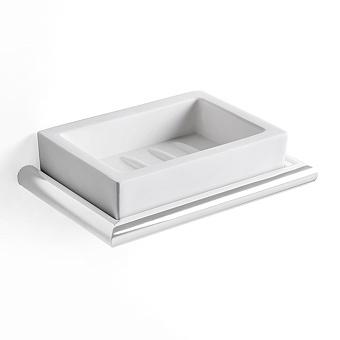 3SC Guy Мыльница подвесная, композит Solid Surface, цвет: белый матовый/белый матовый
