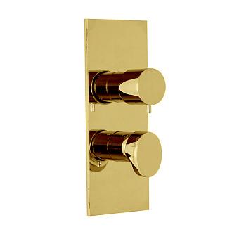Carlo Frattini Fimatherm Смеситель для душа встроенный, термостатический, с переключателем на 2/3 источника, цвет: золото