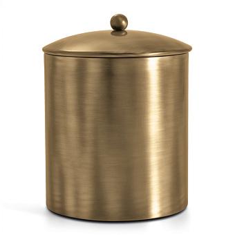 3SC Bally Ведро с крышкой, ручка Sfera, цвет: золото 24к. Lucido