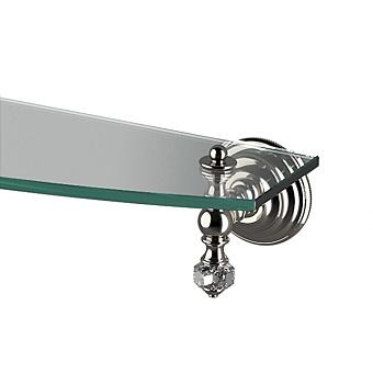 Devon&Devon Gemstone Полка стеклянная  600 мм, подвесной монтаж, цвет: никель блестящий
