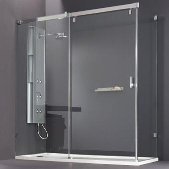 Huppe Vista Раздвижная дверь 1-секционная с неподвижным сегментом и боковой стенкой