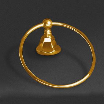 Cristal et Bronze Charlety Полотенцедержатель-кольцо диаметром 18см, цвет: золото